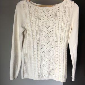 White House Black Market Long Sleeve Sweater - M